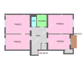 Lokal biurowy, 4 osobne pokoje