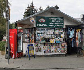 Kiosk przy głównej ulicy