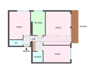 3-pokojowe mieszkanie z balkonem - Grzegórzki - Kraków