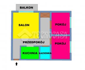 Kraków - Bieńczyce - os. Strusia - 45 m2